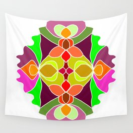 Hand-drawn Henna Mandala Flowers Wall Tapestry