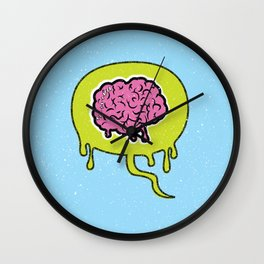 Zombie Thoughts Wall Clock
