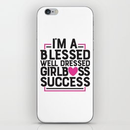 Girl Boss Success iPhone Skin