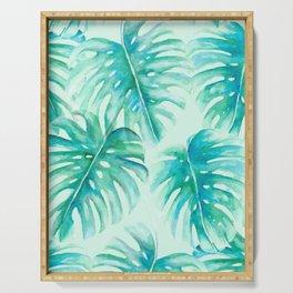 Paradise Palms Mint Serving Tray
