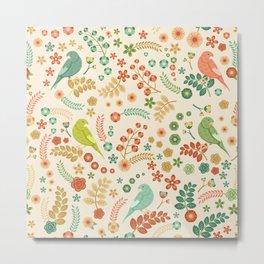 Vector Floral Pattern Metal Print