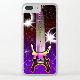 Fusion Keyblade Guitar #130 - Lunar Eclipse & Total Eclipse Clear iPhone Case