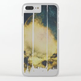 Golden moon Clear iPhone Case
