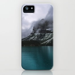 Landscape Photography Maligne Lake Mountain View   Turquoise Water   Alberta Canada iPhone Case