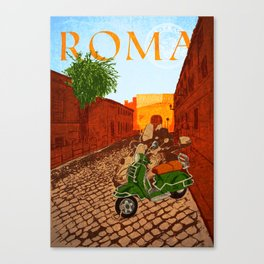 Roma Rione di Trastevere Canvas Print