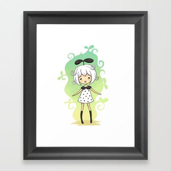 Bean Girl Framed Art Print