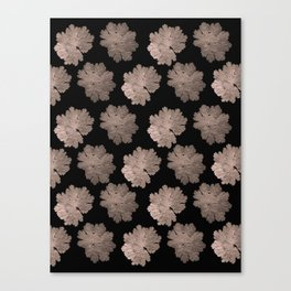Autumn Leaves Pattern #7 #RoseGold #Black #foliage #decor #art #society6 Canvas Print