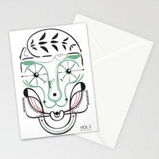 happy skull Stationery Cards