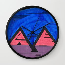 Nonconforming Triangular Hi-Five Wall Clock