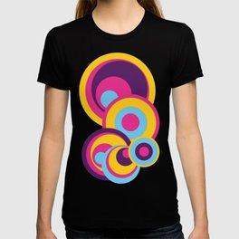 Retro Circles Groovy Colors T-shirt