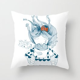 Scandinavian seaman's wife Throw Pillow