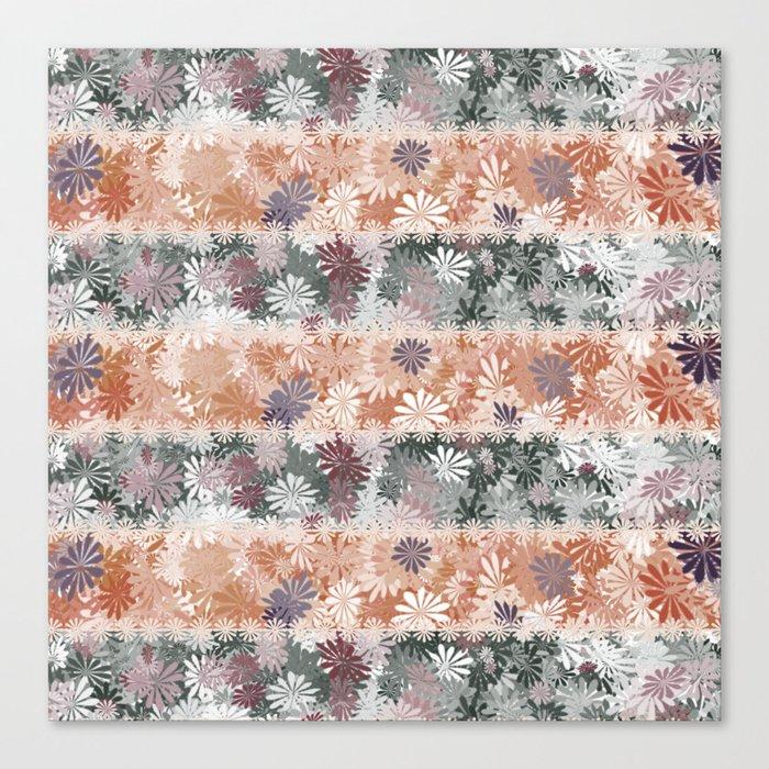 Floral Stripes Canvas Print