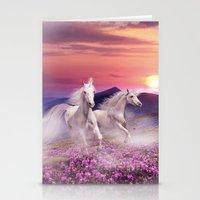 unicorns Stationery Cards featuring Unicorns by Nessendyl