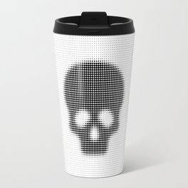 Halftone Skull Travel Mug