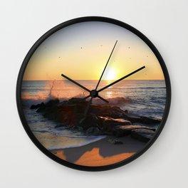 Sunrise at the Beach Wall Clock