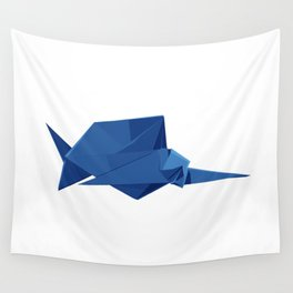Origami Sailfish Wall Tapestry