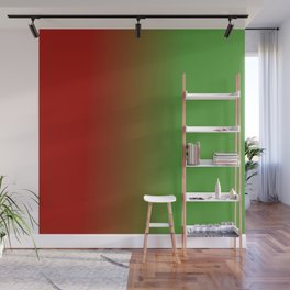 Ombre in Red Green Wall Mural