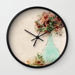 VASE OF FLOWERS Wall Clock