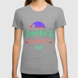 Santa's Cutest Elf Christmas Design T-shirt