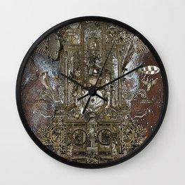 Steampunk Space Transport Wall Clock