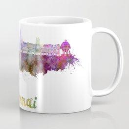 Chennai skyline in watercolor Coffee Mug