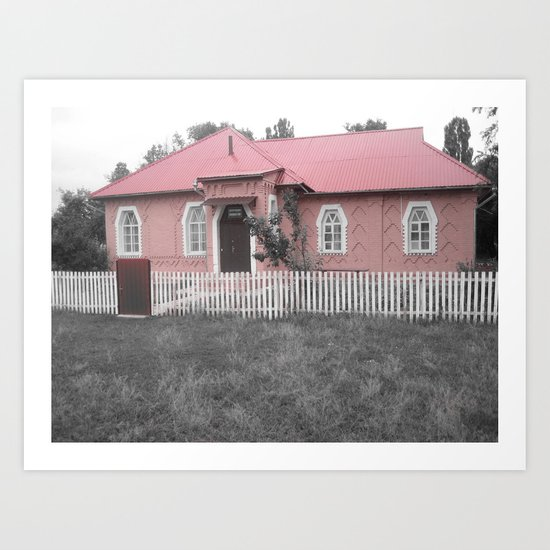 Nothing Like a Pink House  Art Print