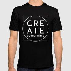 Create Something MEDIUM Mens Fitted Tee Black