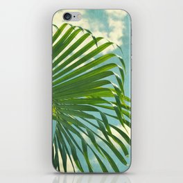 palm tree and clouds iPhone Skin