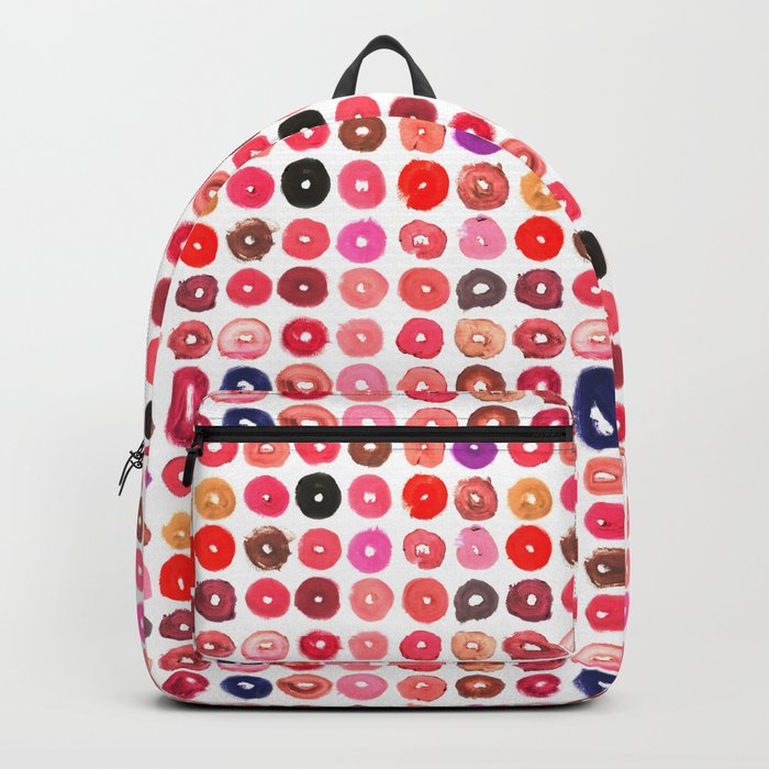 Lipstick Donuts Backpack