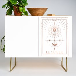 Le Soleil or The Sun Tarot White Edition Credenza