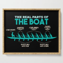 Funny Rowing Gifts - The real parts of the boat Serving Tray