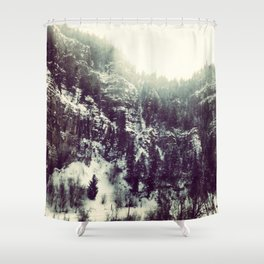 Mountain Flash Shower Curtain