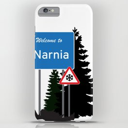 Narnia traffic iPhone Case
