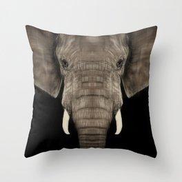 Elephant Sym Throw Pillow