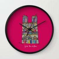 architecture Wall Clocks featuring Architecture by PINT GRAPHICS