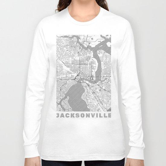 Jacksonville Map Line Long Sleeve T-shirt