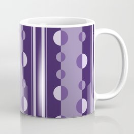 Modern Circles and Stripes in Violet Coffee Mug