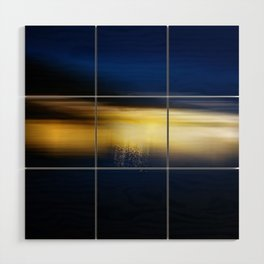 Blue and Gold Wood Wall Art