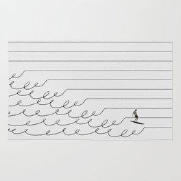 Surf Lines - Soft White Rug
