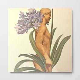 Blue Botanical Metal Print