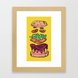 soft cheeseburger Framed Art Print