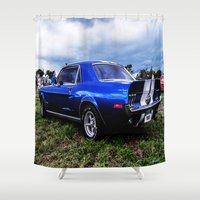 mustang Shower Curtains featuring '68 Mustang by Catherine Doolan
