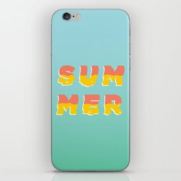 MELTING SUMMER iPhone Skin