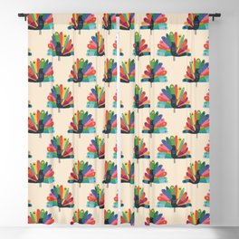 Whimsical Peacok Blackout Curtain