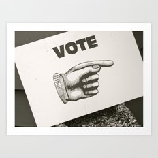Vote Here Art Print