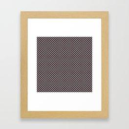 Black and Bridal Blush Polka Dots Framed Art Print