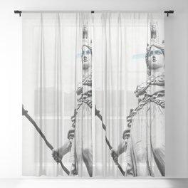 Athena the goddess of wisdom Sheer Curtain