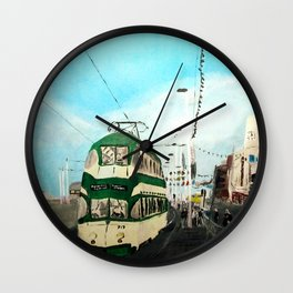 Blackpool Lancashire England Acrylic Fine Art Wall Clock