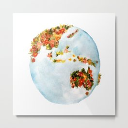 Blooming Earth Metal Print