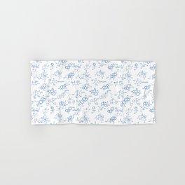 Blue Molecules Hand & Bath Towel